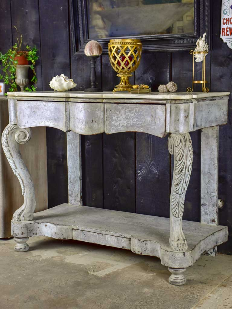 19th Century French console with marble top