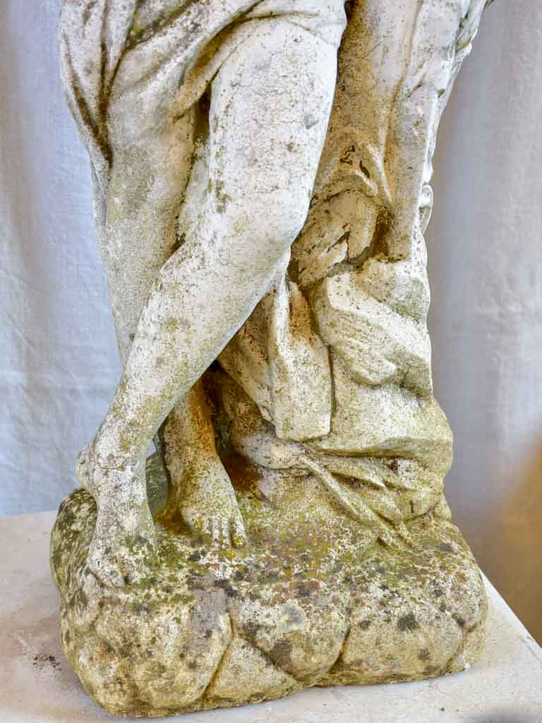 Garden fountain / sculpture of a draped woman with a water jug