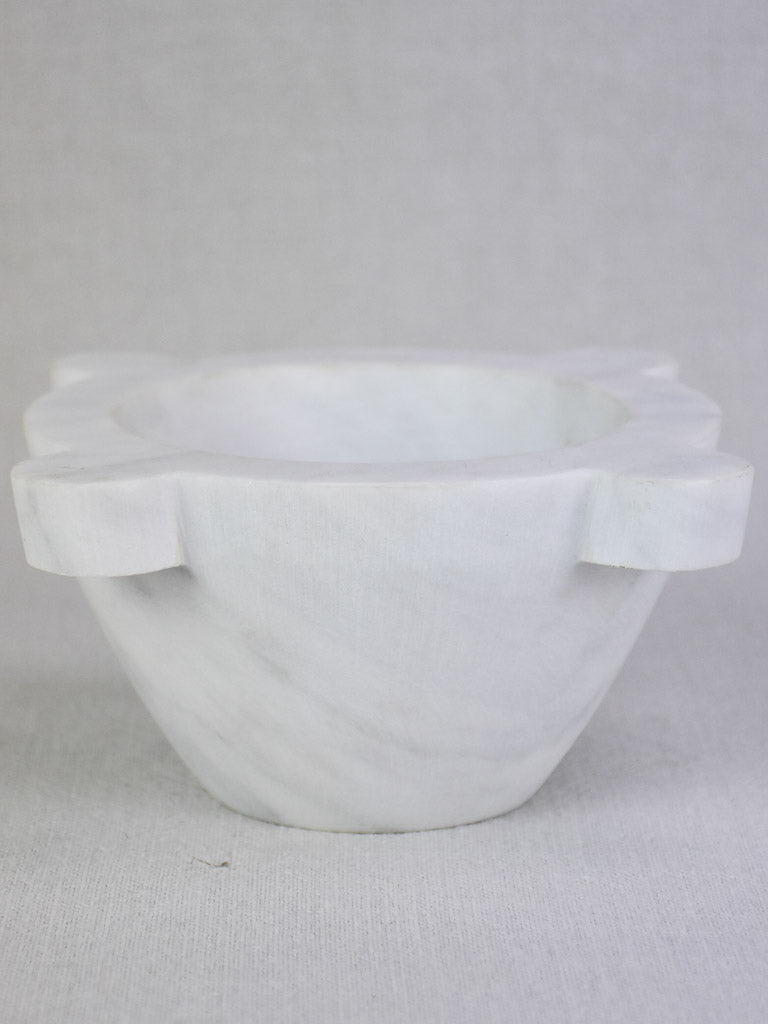 White marble kitchen mortar 8¼""