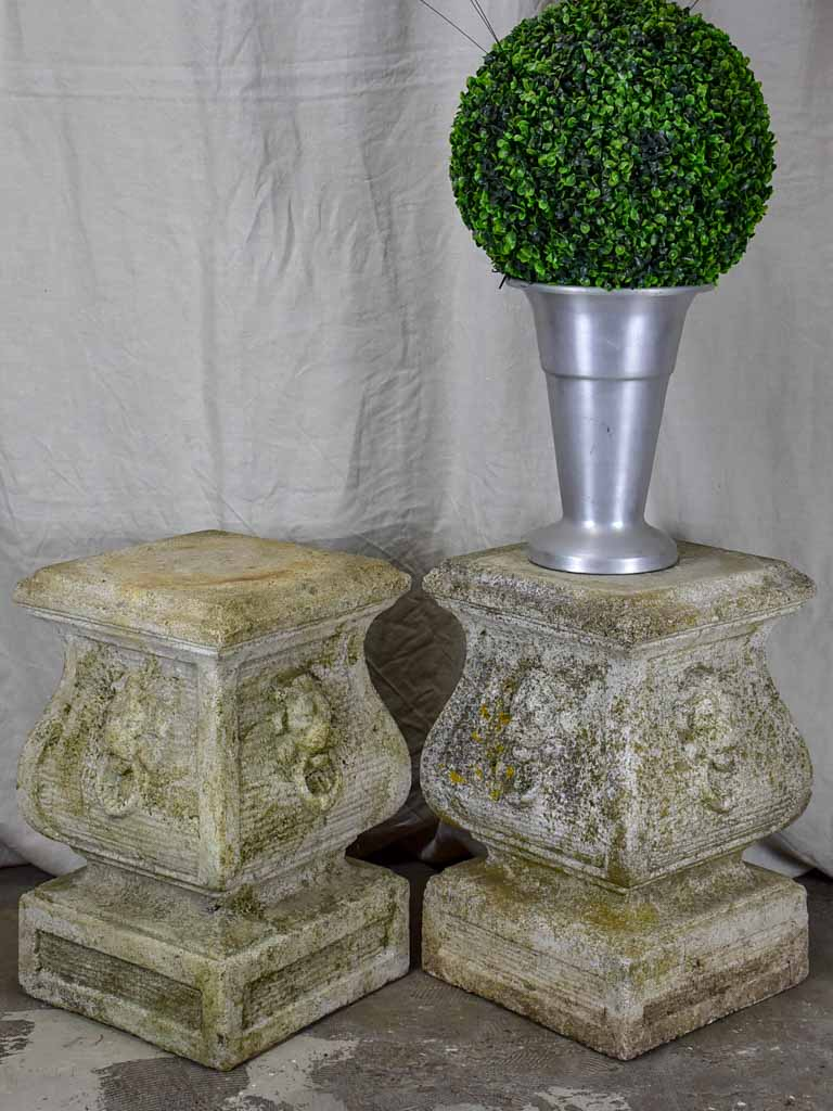Pair of vintage French garden pedestals