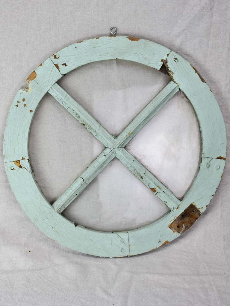Antique French window - round 21¾""