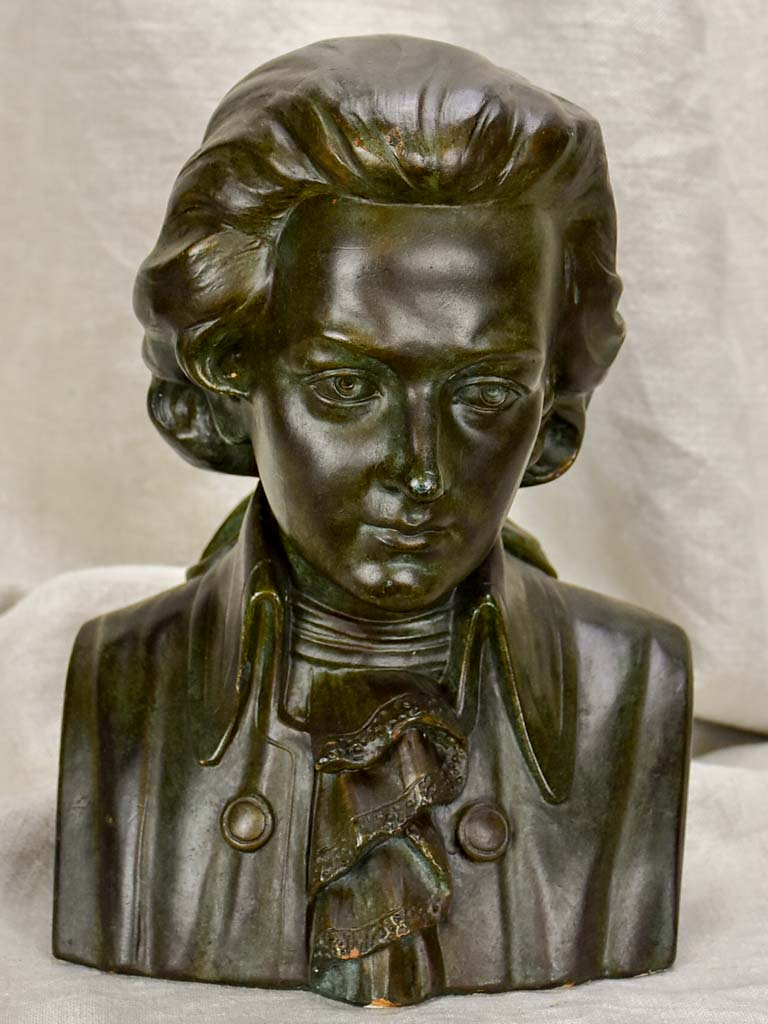 Vintage French bust of Mozart