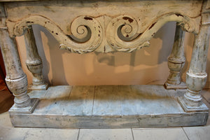 French console with white patina