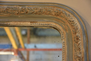 Large 19th century Louis Philippe mirror with white patina