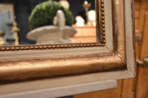 Large grey and gold framed Louis Philippe mirror – 1850's