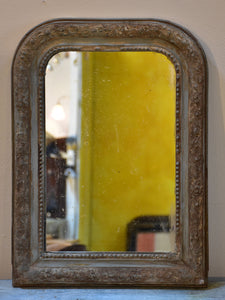Small 19th century French Louis Philippe mirror with original glass