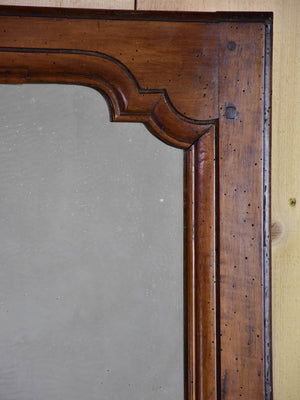 "Small Louis XV style walnut mirror from the 19th century 20¾"" x 26"""