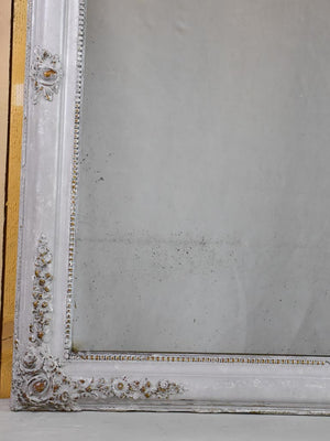 "Large Louis Philippe mirror with gray / gold frame 19th century 34¾"" x 43¼"""