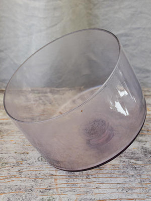 Hand-Blown Purple Glass Patisserie Globe Cloche