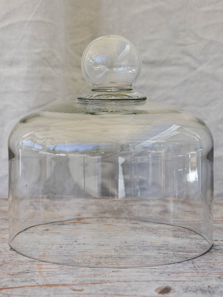 Antique Hand-Blown Glass Globe Cloche