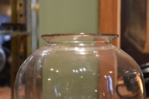 Large 19th century 'Sangsue' apothecary glass jar