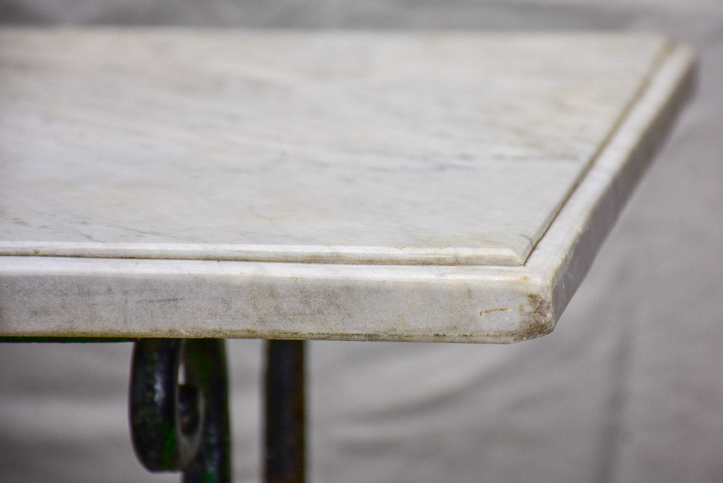 "Antique French marble table - butcher's presentation table 25½"" x 46¾"" x 34¼"""