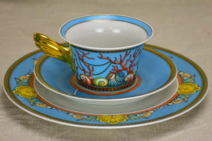 Collection of 5 cups, saucers and dessert plates - vintage Versace
