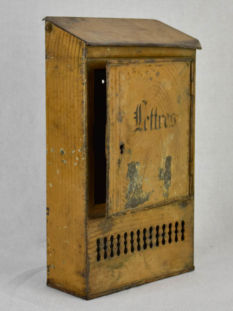 Charming antique French letter box 13¾""