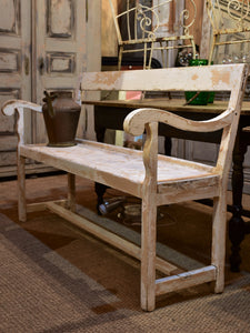Peachy Antique French Garden Bench Seat With White Patina Chez Pluie Lamtechconsult Wood Chair Design Ideas Lamtechconsultcom