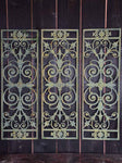 "Set of 3 Napoleon III cast iron balcony balustrades 44½"" x 15"""