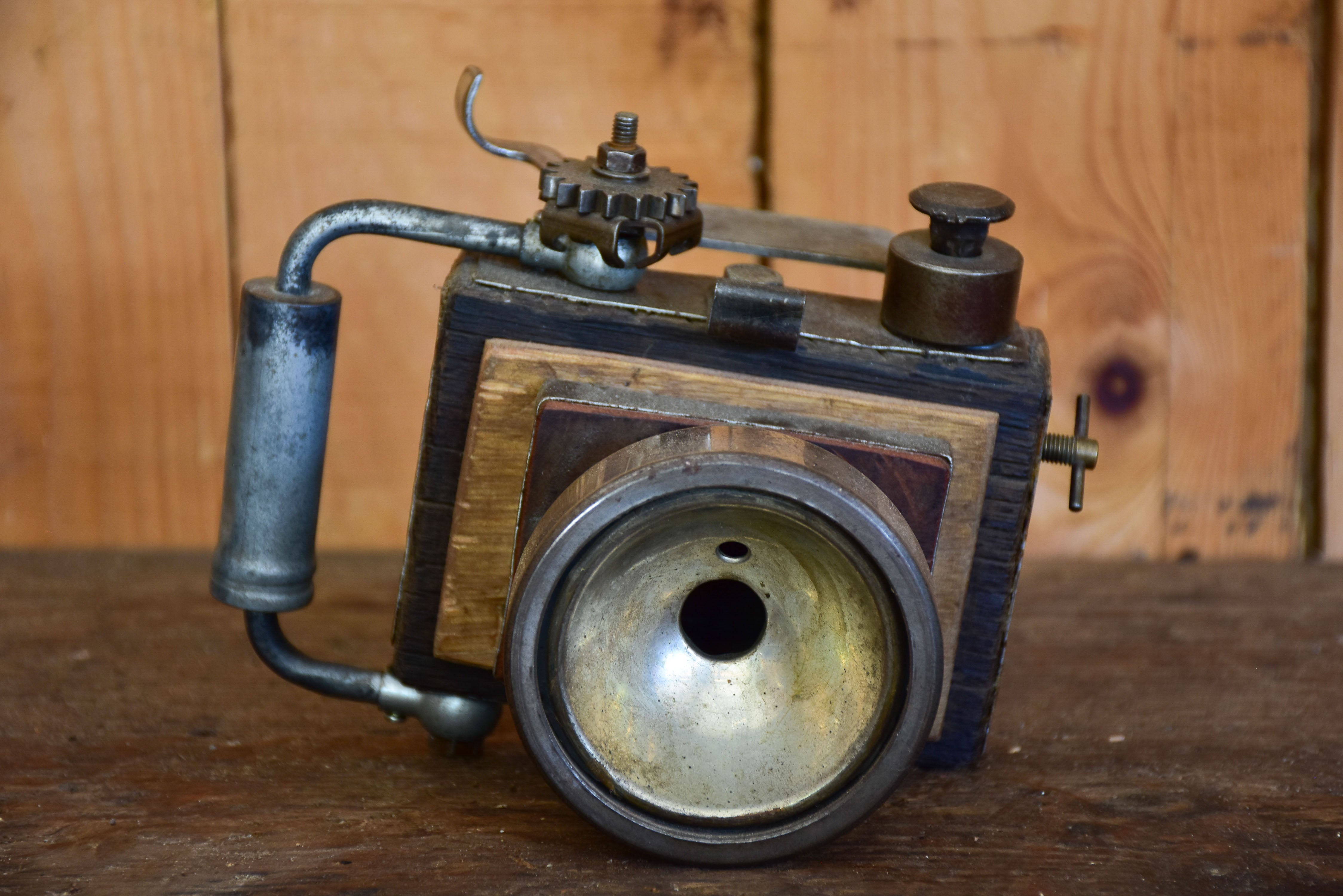Sculpture of a camera by Bertrand Momb