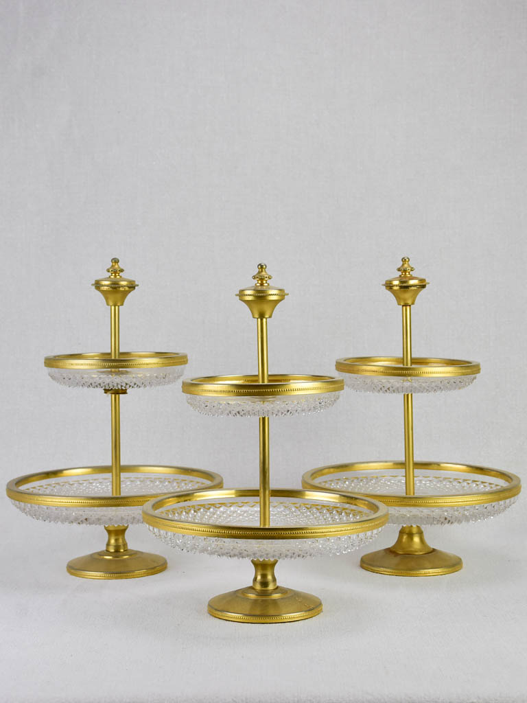 Three vintage tiered cake stands 12½""