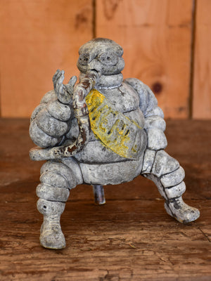 Salvaged Michelin man from an air compressor