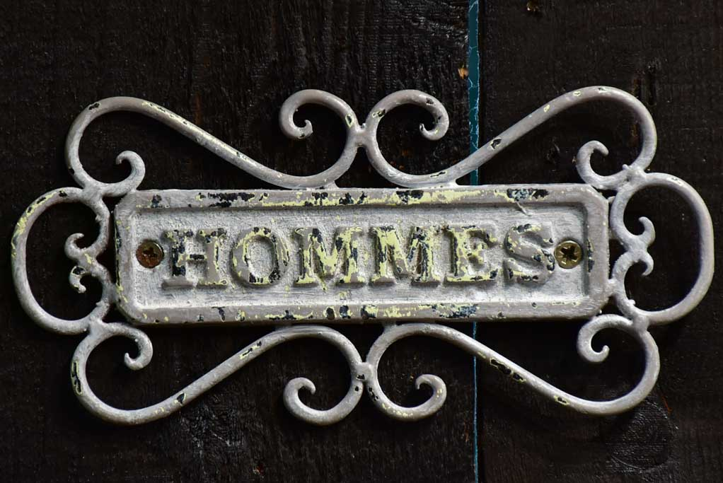 "Mid century toilet signs - Hommes / Femmes 8¼"" x 4"""