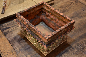 Antique French terracotta planter