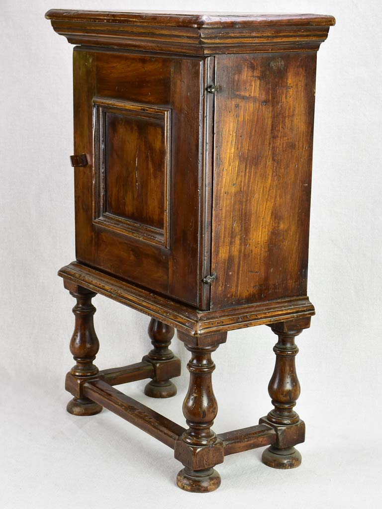 Small antique French night stand with shelves