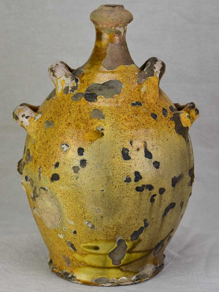 Very rustic antique French Conscience jug 15¾""