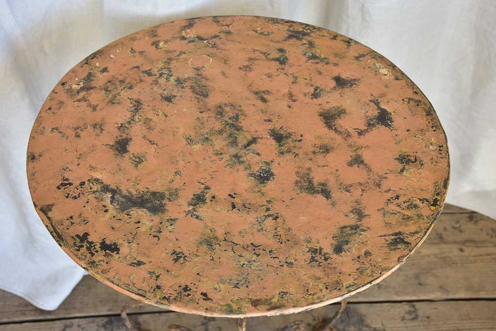 Antique Orange Patina Garden Table