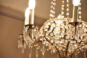 Italian cut glass chandelier circa 1930's