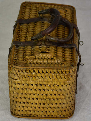Antique French lunch basket with two handles