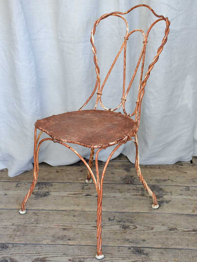 Playful Antique French Rusted Garden Chair