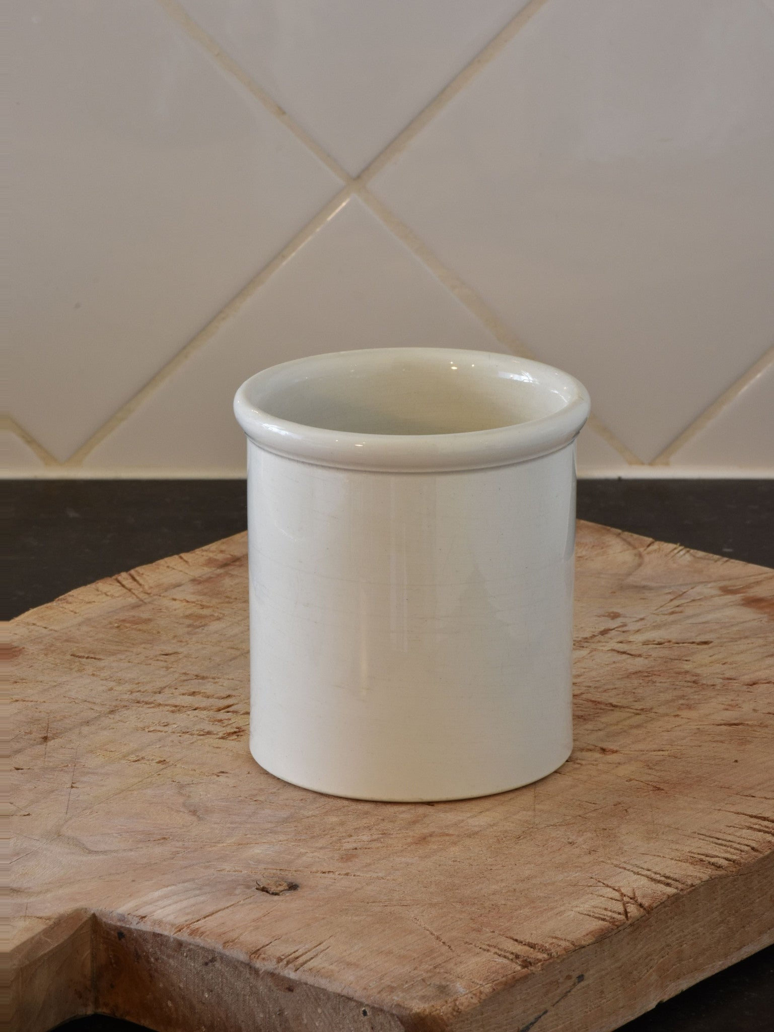 "4""? French ironstone preserving jar - late 19th century 1/2"