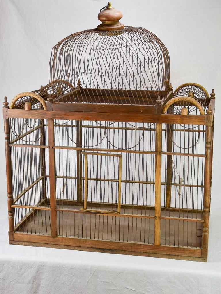 Very large antique French birdcage 39½""