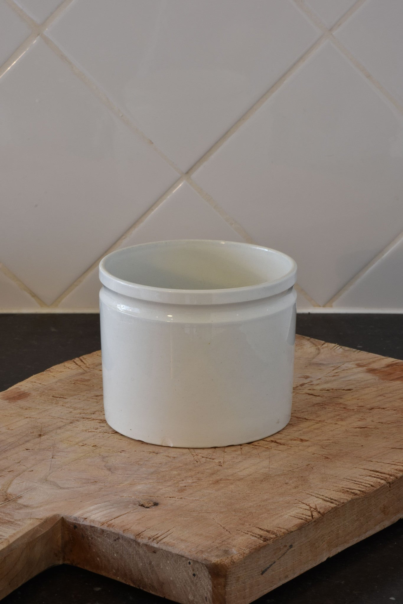 "5"" French ironstone preserving jar – late 19th century 2/2"