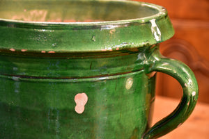 Late 19th century Castelnaudary planter with green glaze