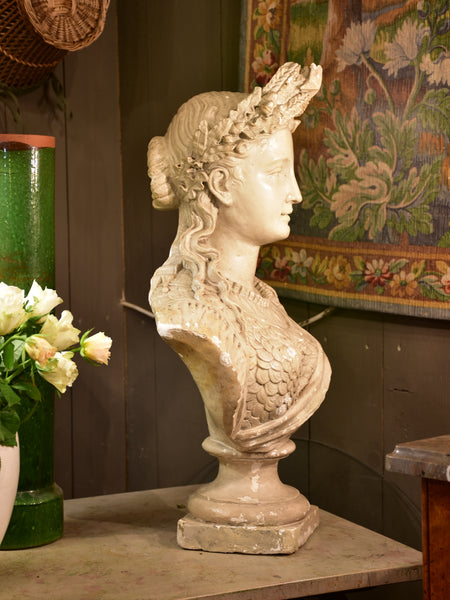 Antique French bust of Marianne