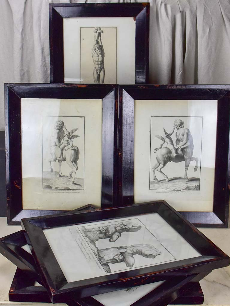 "Collection of six antique Italian mythological engravings 17¼"" x 22½"""