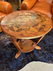 Art deco side table with marquetry