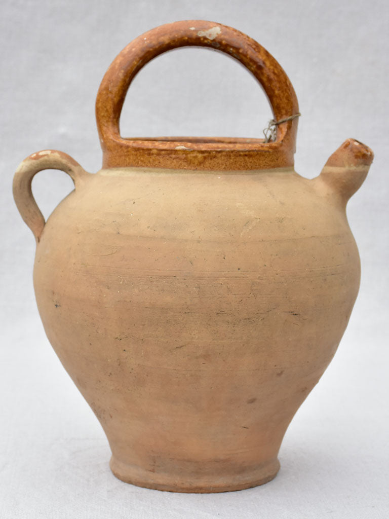 Early twentieth century water pitcher - clay 13¾""