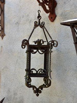 Antique French wrought iron lantern