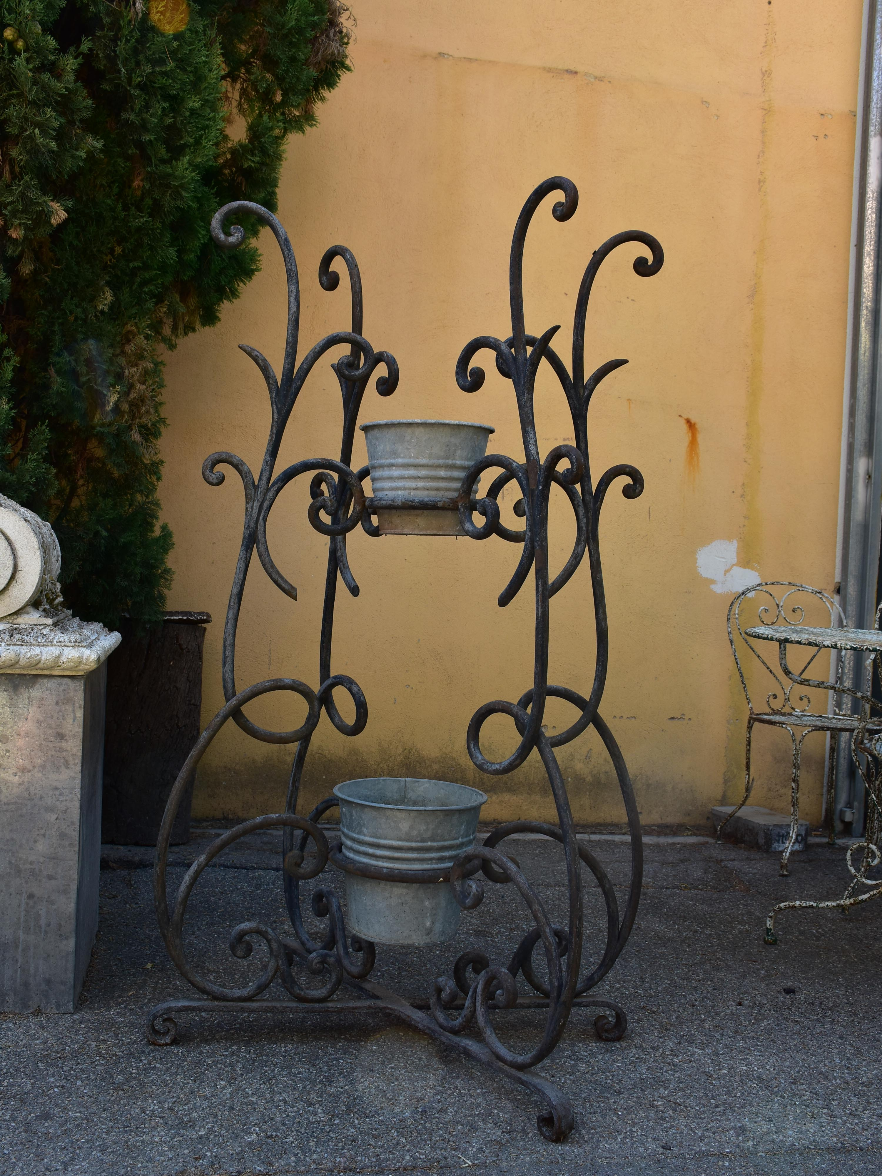 Vintage French planter stand