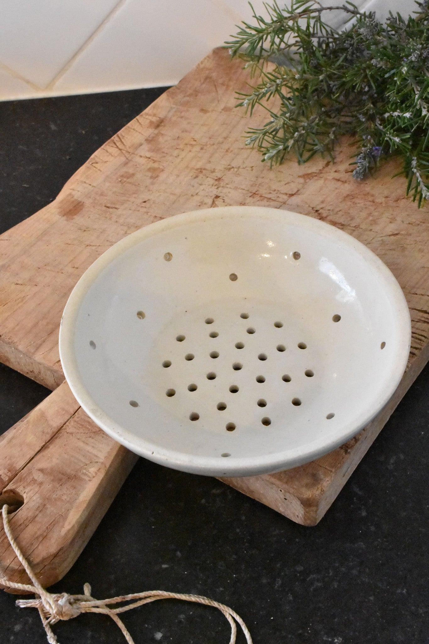 French ironstone strainer Creil – circa 1940's