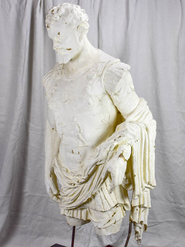 Large papier mache sculpture of a Roman warrior 57""