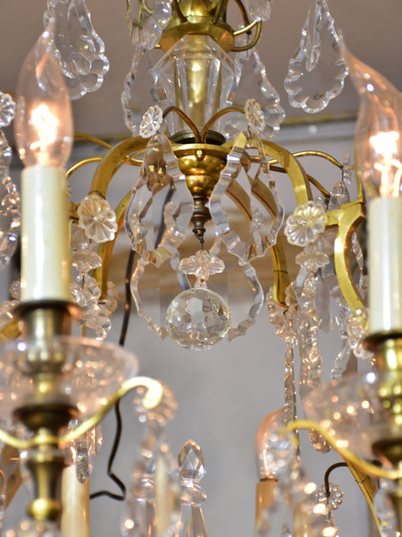 Antique French crystal chandelier - 12 branches