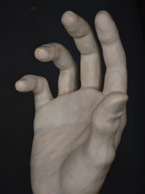 Porcelain sculpture by Albert Spinelli – pair of hands