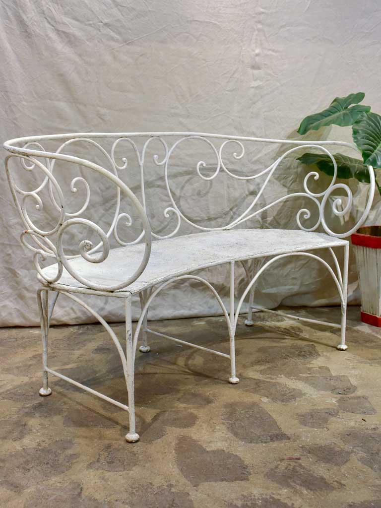 Antique French garden bench seat 56""