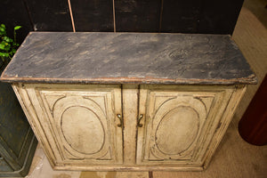 Pair of French commodes with faux marble top