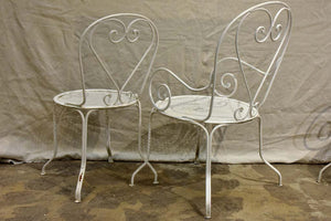 Antique French garden setting - round table and five chairs