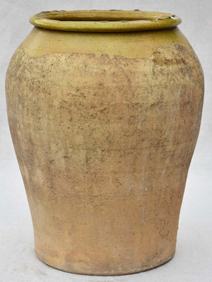 Antique olive jar with green glaze 16½""