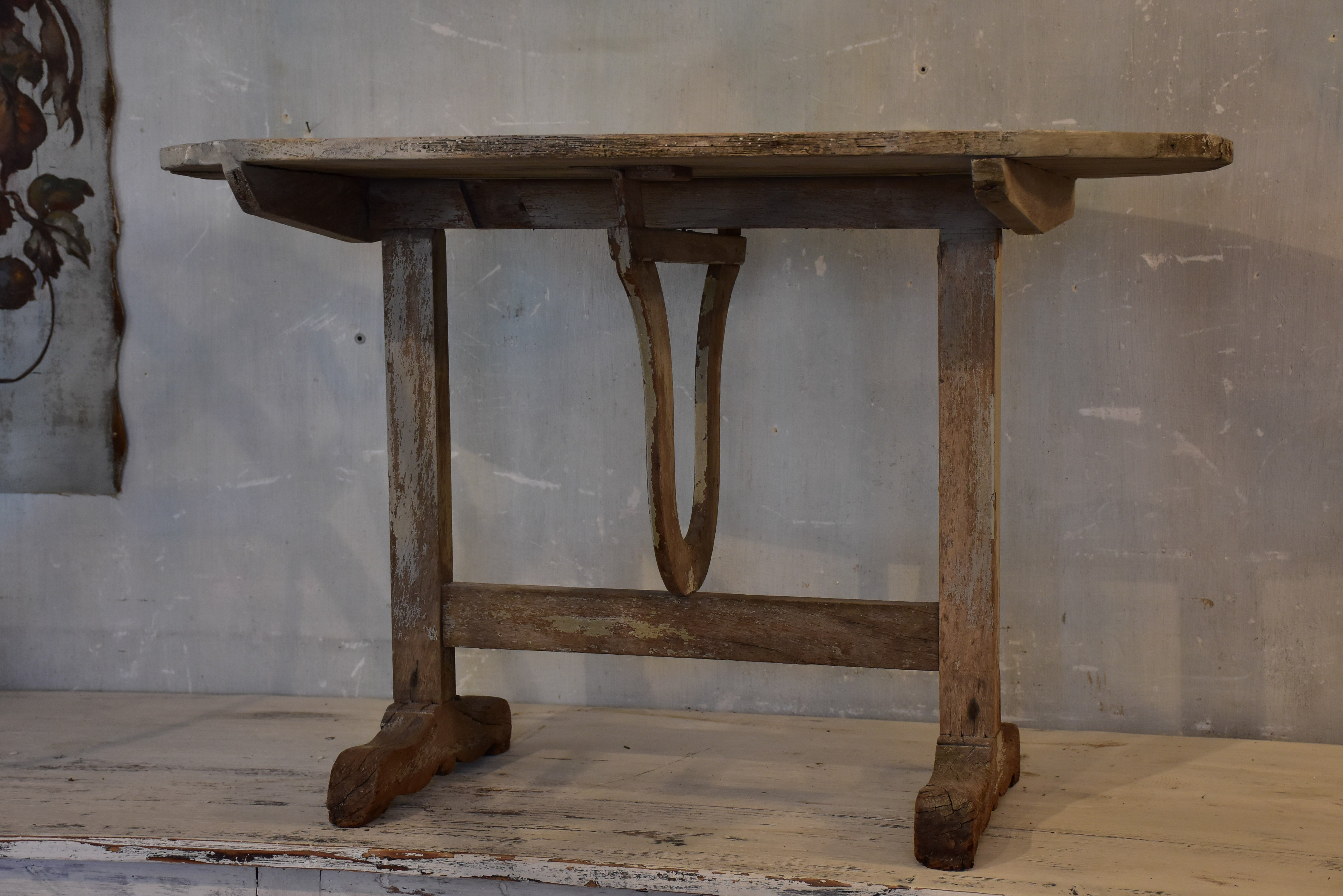 Antique French folding vigneron's table